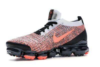 Nike Air Vapormax Flyknit 3 Black Mango AJ6900-800 Running Shoes Men's Size 4