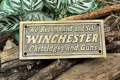 Winchester Repeating Arms Cartridge And Guns Wall Plaque Cast Iron Sign  S-25