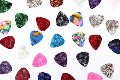 10 Stylish Colourful Guitar Picks Plectrums - 0.46mm, 0.58mm, 0.72mm and 0.96 mm 2