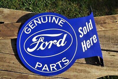Genuine Ford Parts Sold Here Tin Flange Sign Sales /& Service Trucks Dealer