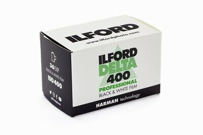 5 Rolls Ilford Delta 400 Pro 135-36 Exposure Black & White 35mm Print Film FRESH 2