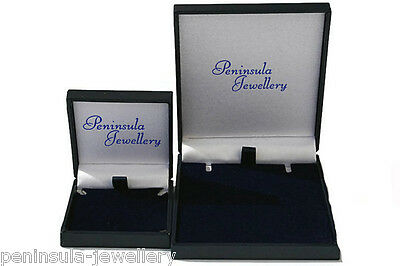 9ct Gold Turquoise and Cubic Zirconia Pendant and Earring Set Boxed Made in UK