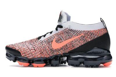 Nike Air Vapormax Flyknit 3 Black Mango AJ6900-800 Running Shoes Men's Size 5