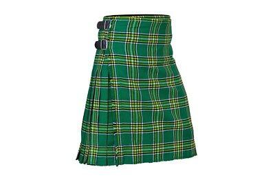 Men's Traditional Scottish Tartan 8 Yard Kilt 13oz Highland Casual Kilt 6 colors