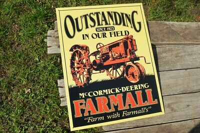Farmall Tractor Equipment Used Here International Harvester IH Metal Tin Sign X