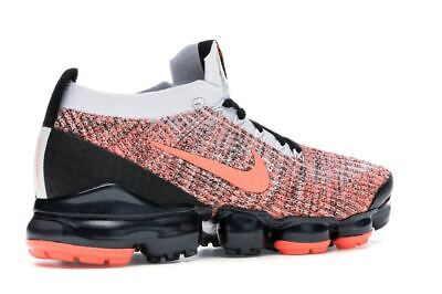 Nike Air Vapormax Flyknit 3 Black Mango AJ6900-800 Running Shoes Men's Size 3