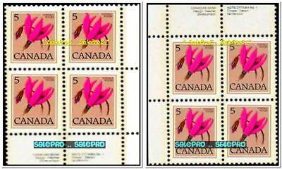 2x CANADA 1977 CANADIAN PURPLE WILD FLOWER FV 40 CENT MNH STAMP CORNER BLOCK LOT 2