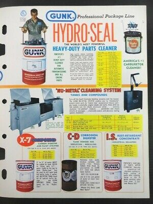 """Vintage 1978 GUNK """"Cleaning Problems End..With GUNK Solutions"""" Jobbers Catalog 2"""