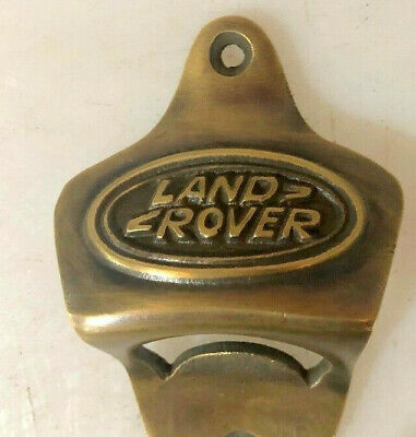 LAND ROVER car wall Bottle Opener solid pure brass works screw heavy B 2