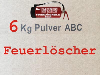 NEU OVP  2 kg  ABC Feuerlöscher EN 3 + Drahthalter + Manometer Autofeuerlöscher 6