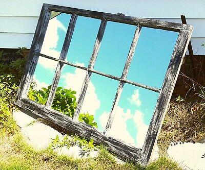 Vintage Sash Antique Wood Window Frame Pinterest 40X28 Black Gray Mirrors Rustic 2