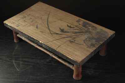 Qing Dynasty Stool Flower Table Stand singed INK PAINTING / W 45.5×D 24×H12 [cm] 8