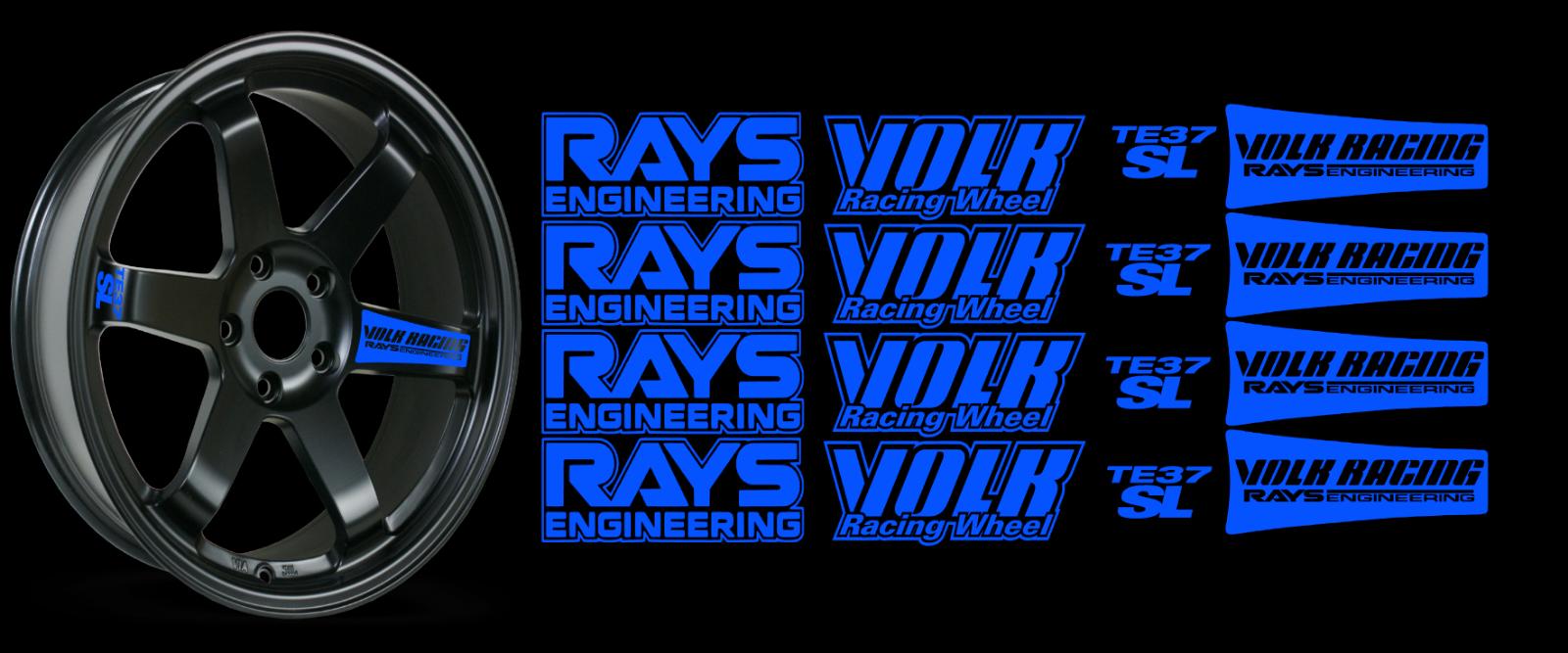 JDM Reflective RAYs VOLK Racing TE37SL Wheel 16 sticker decal Drift 10