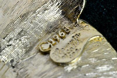 1968 Florenta Backplate Knob Drawer Puller 18K Gold Plated Handle Sea Shell 7