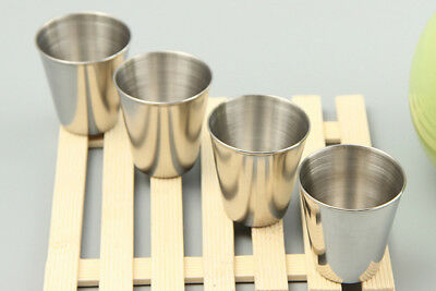 6PCS US SHIP Stainless Steel Shot Wine Glass Glasses 2-1/2 fl Ounce Set of 6 New 3