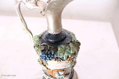 Zauberhafter italienischer Wein Krug Zinnkrug Steingut Tolle Motive und Farben 7
