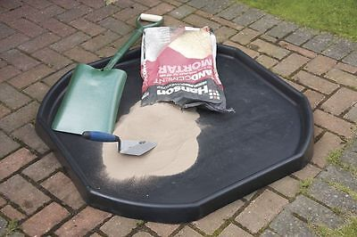 Black Mixing Tray - Water Sand Pit For Children - Builders Concrete - Large Tray
