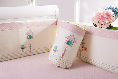Baby Kid Toddler Cot Crib Bedding Bumpers Pure Cotton Newborn Gift  Soft Cream 6