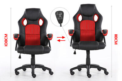 Office Chair Executive Racing Gaming Swivel Pu Leather Sport Computer Desk 7