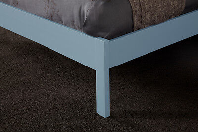 Hevea Hard Wood Bed Frame HONEY OAK Finish, OPAL WHITE, or GREY Finish Bedstead 12