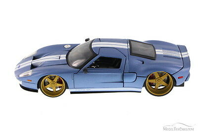 Ford Gt Blue Jada Toys Ab   Scalecast Model Toy