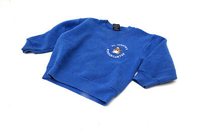 Girls Screen Stars Jumper Age 3-4 Sweatshirt Blue St Josephs Kindergartan 2