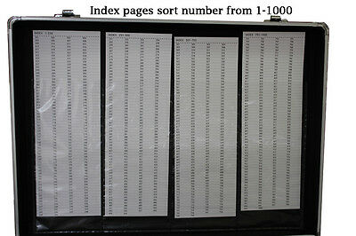 1000 CD DVD Black Aluminum Media Storage Case Mess-Free Holder Box with Sleeves