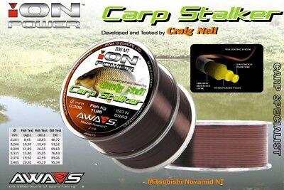 Monofilament Fishing Line awas AWA SHIMA Ion Power Carp Stalker 2x300 Japan