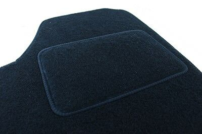 Velours Fußmatten Autoteppiche mit LOGO für PEUGEOT 308 2007-2012 4tlg Bef. rund