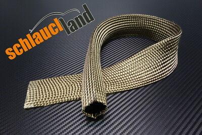 1m Kevlar Titan Hitzeschutzschlauch ID 40mm *** Heat Sleeve Thermoschutz Isolierschlauch Kabelschutz