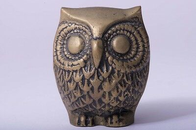 01 F/S Antique Coppermade Owl Ornament Lucky Item Istanbul from Japan