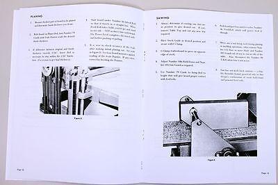 Belsaw 910 912 Wood Planer Moulder Owners Operators Repair Parts List Manual Saw
