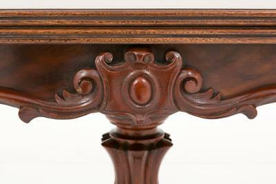 Victorian Mahogany Card Table - Games Tables 1860 10