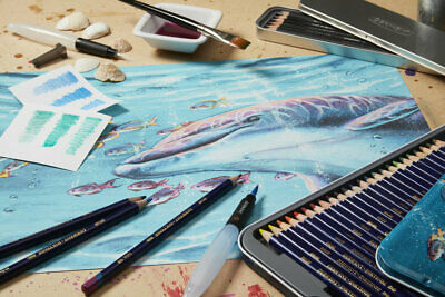 Derwent Inktense Professional Permanent Watercolour Pencils in 72 Vivid Colours 2