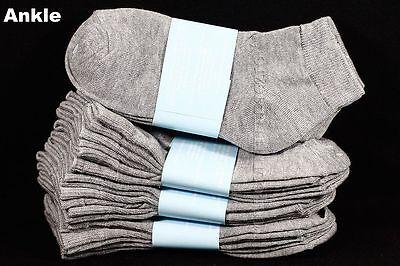 3 6 12 PACK Kid's Boy Girl Ankle Socks Lot Spandex Baby Toddler 0-12 2-3 4-6 6-8 2