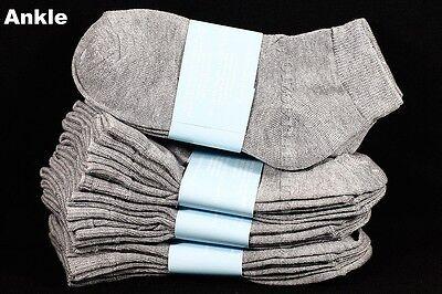 Big Kid Ankle Socks Lot Toddler Boy Girl School Black White Gray0-12 2-3 4-6 6-8 4