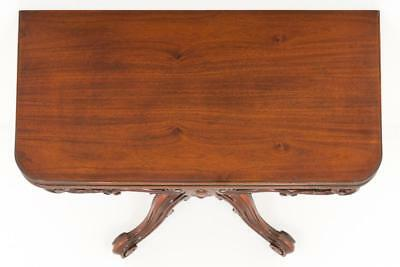 Victorian Mahogany Card Table - Games Tables 1860 5