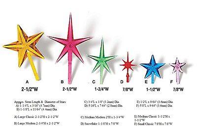 Star Medium Ceramic Christmas choose color light topper bulb twist vintage tree 2