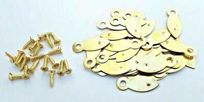Picture Frame Turn Buttons 19mm Brassed With Screws x 10 or 100 Artist Crafting 7