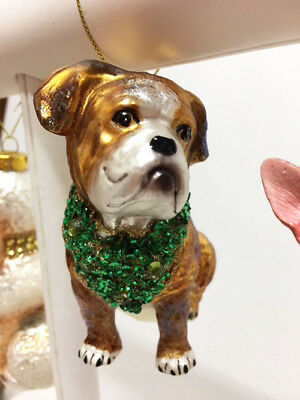 New Mark Roberts Glass Glam Choice Of 4 Dog Breeds Christmas Tree Ornaments
