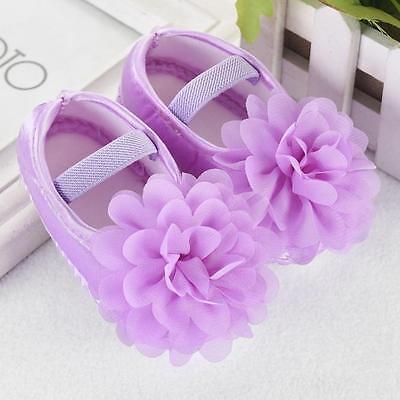 Infant Newborn Baby Girl Princess Crib Shoes Soft Sole Pram Anti-slip Prewalker 5