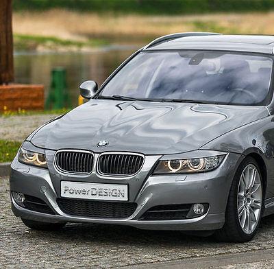 Eyebrows for BMW 3 E90 E91 2005-2012  headlight eyelids lids ABS Plastic 4