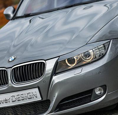 Eyebrows for BMW 3 E90 E91 2005-2012  headlight eyelids lids ABS Plastic 2