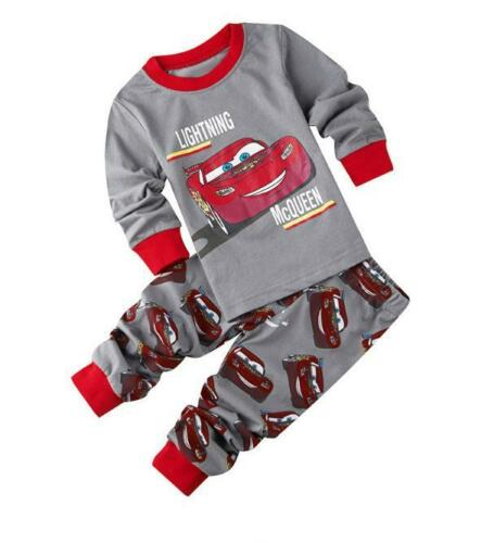 Cars Lightning McQueen Kids Toddler Baby Boys Pajamas Pjs Sleepwear Sets Clothes