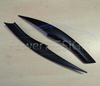 Eyebrows for BMW 3 E90 E91 2005-2012  headlight eyelids lids ABS Plastic 9