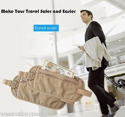 RFID Travel Waist Bum Bag Anti Theft Pouch Belt Passport Holder Safe Strap Sport 12