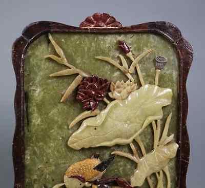 China Old  Ink Stone Screen shoushan stone 硯屏 /  KENBYO / Qing Dynasty 6