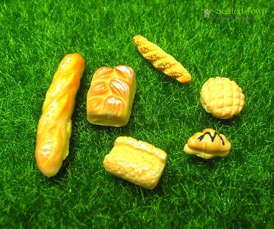 6pc Dolls House Miniature Kitchen Food Bread Toast Bakery Pastry Shop Decor 1:12 12