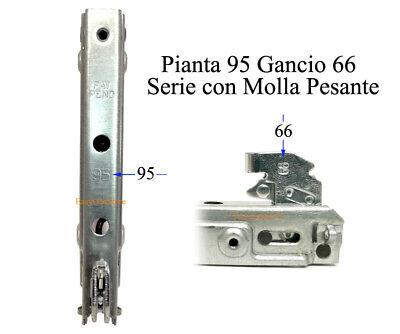 2 Pezzi Nardi Glem Gas Compact Kit Cerniere Porta Forno con Molle Pesanti