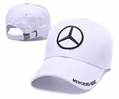 New MERCEDES BENZ² Logo AMG Cap Sport Baseball Hat outdoor Adjustable White 2